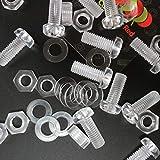 Paquete de 10 tornillos y tuercas, Arandelas, transparentes, de plástico acrílico. M8 x 20mm