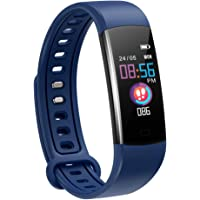 moreFit Fitness Tracker Kinder, Schrittzähler Uhr Fitness Armband mit Pulsmesser Schlafmonitor Stoppuhren Kalorienzähler…