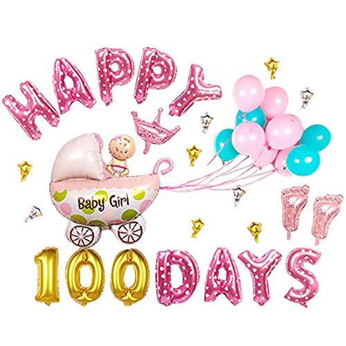 feiledi Trade Geburtstag Party Dekorationen, Geburtstag Hintergrund Wände Dekorationen Aluminium Folie Ballons, Happy Birthday 13Buchstaben Banner Flaggen, Luftballons, Girl 100 Day, Large