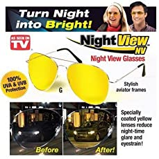 BHUVI Night View Glasses for Clear Vision Night Driving Glasses Anti Glare HD Clarity Polarized Lenses Minimize Eye Fatigue Strain