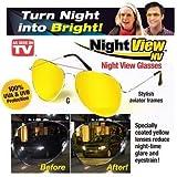 BHUVI Night View Glasses for Clear Vision Night Driving Glasses Anti Glare HD Clarity Polarized Lenses Minimize Eye Fatigue Strain