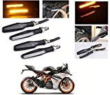 #1: AutoStark Motorcycle AMBER LED Turn Signal Indicators Light Lamp Regal Raptor 4Pcs KTM RC 390