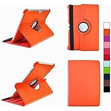 COOVY® SMART FUNDA 360º GRADOS ROTACIÓN PARA SAMSUNG GALAXY TAB 10.1 N GT-P7500 GT-P7501 GT-P7510 GT-P7511, TAB 2 10.1 GT-P5100 GT-P5110 COVER CASE PROTECTORA SOPORTE color naranja