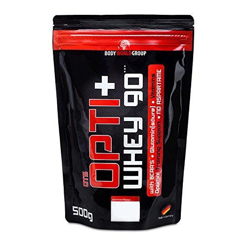 BWG Opti+ Whey 90 Protein, Eiweißshake, Muscle Line, Haselnuss, 1er Pack (1 x 500g Beutel)