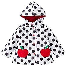 Girls Winddichte & wasserdichte Blumen Regenmantel Outwear Jacke