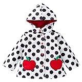Mädchen Windproof & Waterproof Blumen Regenmantel Outwear Jacke Rot / 100cm