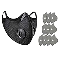 Outdoor Sports Anti Dust Face Mask with Air Pollution Filter for Ski Ice Fishing Cross Bicycle Motorcycle Riding Ski Ice Fishing Cross Country Hunting-Activated Charcoal Filter