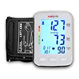 Healthgenie BPM04KBL Digital Upper Arm Blood Pressure Monitor Batteries Included (White)