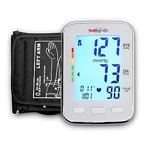 Healthgenie BPM04KBL Digital Upper Arm Blood Pressure Monitor Batteries Included (White)