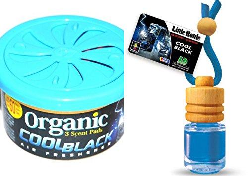 Preisvergleich Produktbild Duft Duo Cool Black Fresh. 1 x Organic Scent Duftdose + 1 Little Bottle Duftflakon Lufterfrischer