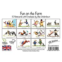 10 notecards with envelopes. Fun on the Farm by Alex Underdown