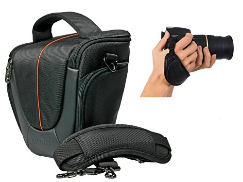 Foto Kamera Tasche Yuma HalfterSet mit Action-Handgriff Leder für Sony Alpha 6300 6000 5100 5000 A68 A58 HX400 (Tasche Für Sony Kamera A58)