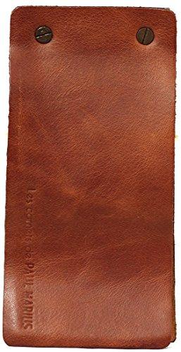 LE CARNET Schreibblock - Mit Recyclingpapier Lederbuch in 100 Seiten Vintage-Stil PAUL MARIUS