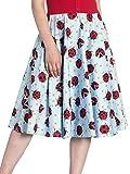 Hell Bunny Rock Lila 50's Skirt 5485 Blau S