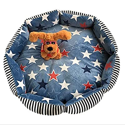 ZXPzZ Kennel Removable And Washable Pet Sleeping Mat Small Sleeping Blanket Small Dog Medium Dog Large Dog Pet Nest Dog Bed Cat Bed Four Seasons Universal Cushion ?Multiple Styles And Sizes by ZXPzZ