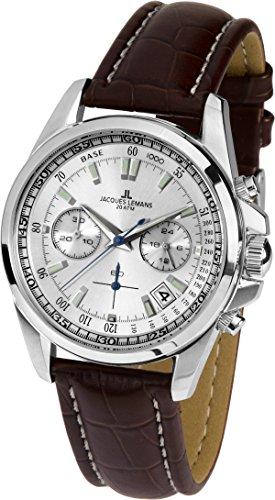 Jacques Lemans Reloj Cronógrafo para Hombre de Cuarzo con Correa en Cuero 1-1830B