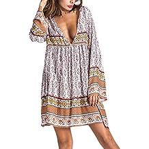 Langarm hippie tunika kleid