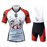 Thriller Rider Sports Damen Happy Every Day Sport & Freizeit MTB Fahrradbekleidung Radtrikot und Trägerhose Anzüge Large