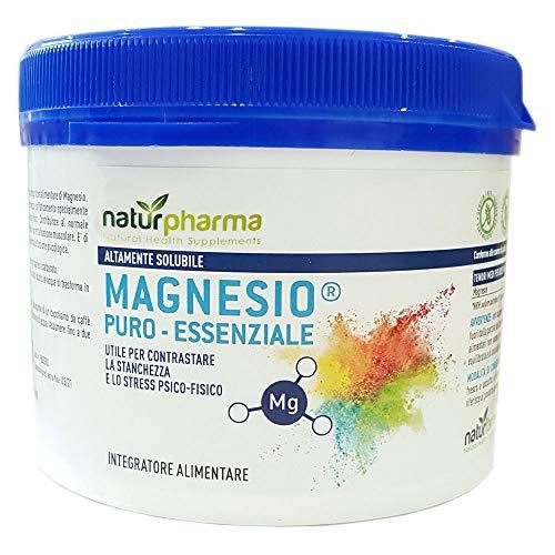 Magnesio Puro Essenziale Naturfarma Barattolo 300 gr| Magnesio Puro Equivalente Risparmia | Altamente Solubile | Utile per Contrastare la stanchezza e lo stress psico-fisico
