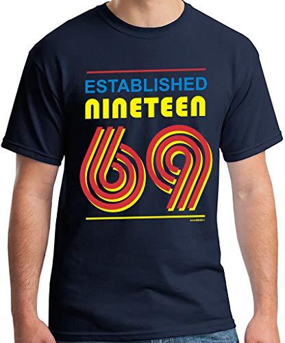 50th Birthday Gifts Men Established 1969 T-Shirt