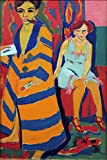 Steve Art Gallery self-Portrait with Model,Ernst Ludwig Kirchner,60x40cm