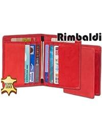 Rimbaldi - Ausweis-/Kreditkartenetui mit mit viel Platz für Ausweise und Kreditkarten aus weichem, naturbelassenem Kalbsleder