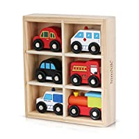 Holzspielzeug Autos Bus Motor Notfall Fahrzeuge Pädagogisches Spielzeug für das frühe Lernen für 3 Jahre alt von NimNik