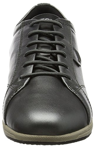 Geox Damen D Avery B Sneaker Grau (Dk Grey)