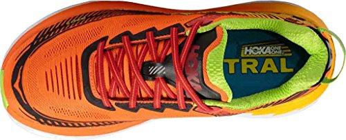 Hoka Bondi 5 Laufschuhe - SS17 Red Orange/Gold