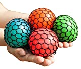#10: Mesh Squishy Ball Squeeze Grape Ball Relieve Pressure Ball 2PCS