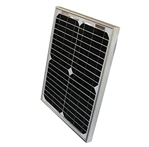 20W AKT Solar Panel Battery Charger Kit with charge controller to optimally charge your battery