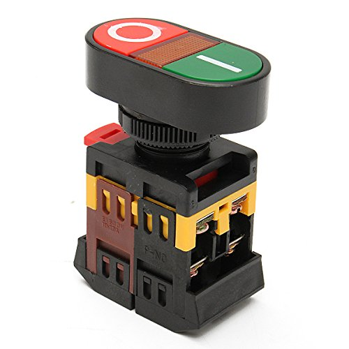 RanDal 220V Red Green Power On/Off Start Stop Push Button Light Indicator Switch -