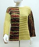 Pullover, Damen-Pullover, Rundhals-Pullover, geometrischer Pullover, Langarmarm-Pullover, Horizontal-Pullover