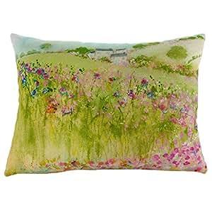 Village Green Cushion Evans Lichfield Sue Fenlon Design 43x33 centimetres DP968 by Evans Lichfield