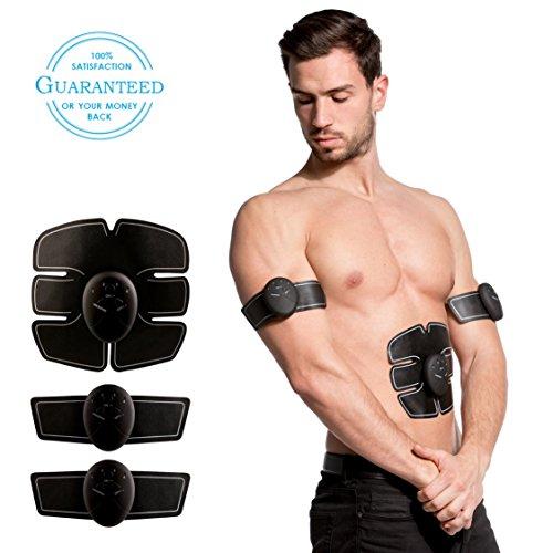 XPack EMS Trainingsgerät - EMS MUSKELSTIMULATOR für Muskelaufbau, Fettverbrennung und Massage mit 10 Extra Silikonpads