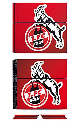 Sony Playstation 4 Folie Skin Sticker aus Vinyl-Folie Aufkleber 1. FC Köln Fanartikel Fussball
