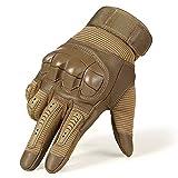 WHFDRHCPST Touchscreen-Handschuhe Volle Finger-Taktische Armee-Handschuhe Militär Airsoft Fahrradkampf Pu Touch