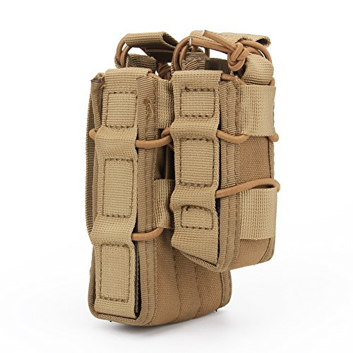 haoYK Tactical Outdoor Einzigen Offenen Beutel Armee Molle Airsoft Mag Halter Tasche M4 / M16 Beutel & Pistole Magazin MOLLE Beutel (DE)