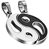 Best Flongo Colliers - Flongo 2Pcs Collier Pendentif Yin Yang Tai Chi Review