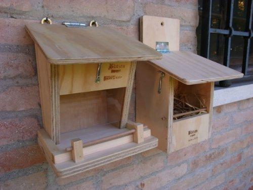 Set professionale per uccellini selvatici mangiatoia e rifugio Blitzen Made in Italy 100%
