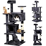 Popamazing Cat Scratching Post Tower Tree (Gray)