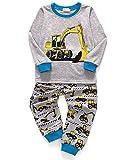 Little Sorrel Lange Ärmel Mond Stern Jungen Pajama Sets Baumwolle Kinder Nachtwäsche, 01-bagger, 92