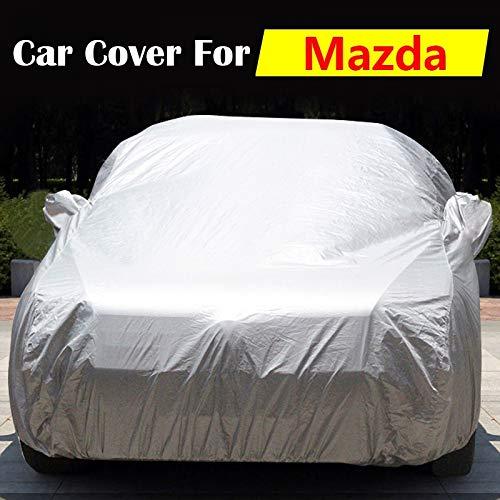 ERQINGCZ Wasserdichte Autoabdeckung Auto-Abdeckung Im Freien Innenanti-Uv Sun-Schild-Schnee-Regen-Kratzer-Beständige Selbstabdeckung Für Mazda 2 323 3 Tribut Navajo