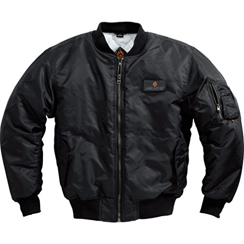 HELLFIRE Outdoor-Jacke Jacke 1.0, Strickbund an Kragen, Armabschluss, Jackenbund, 2 Außentaschen, 1 Ärmel-, 1 Innentasche, Schwarz, L