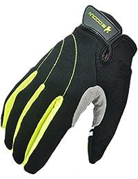vitalite-unisex invierno dedo completo guantes de ciclismo Touch recogniion de montaña ciclismo de carretera bicicleta guantes de deporte, color verde, tamaño large