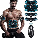 Jingfude Professionnel EMS abdominal muscle tonification ceinture de fitness à domicile Training Gear, coussinets de vibration pour les hommes et les femmes à tonifier, perte de poids, taille-bordure