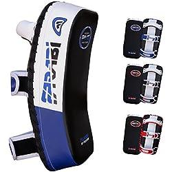 Farabi blindaje patada pad thai, patada thai mma kickboxing muay y la almohadilla de entrenamiento de boxeo, brazo escudo huelga pad (sola unidad) (azul / negro)