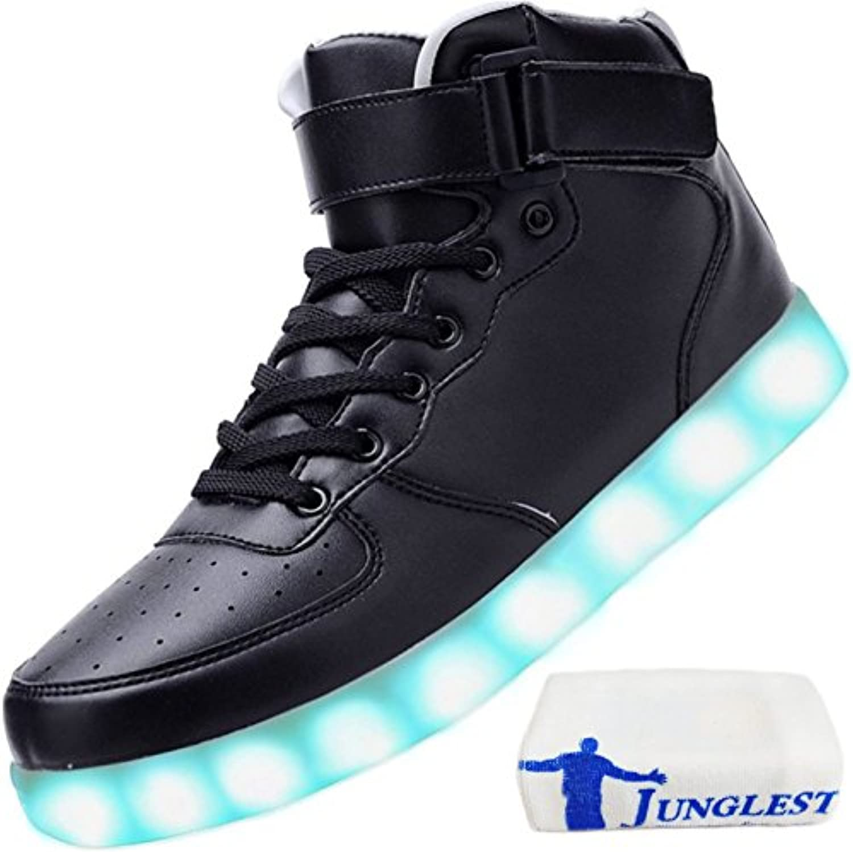 [Presente piccolo asciugamano]Nero EU 43, scarpe da ginnastica Lampeggiante Carica USB Luminosi Partito maniera 7 Scarpe Coloreee... | Good Design  | Maschio/Ragazze Scarpa