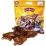 Grand Orejas de Cerdo, Accesorios Masticables 100% Naturales para Perros - 6 Unidades