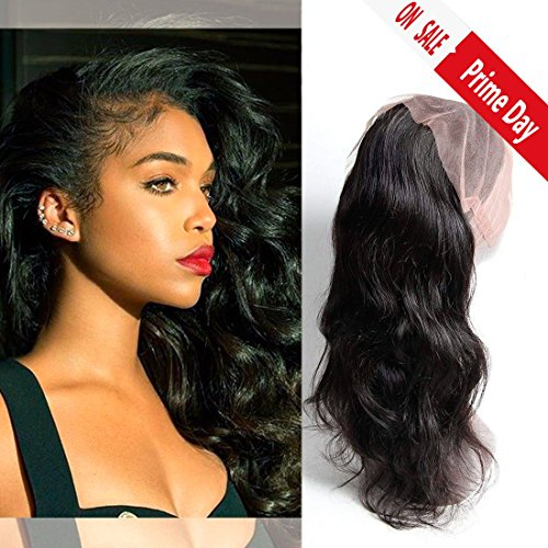 Dai weier closure frontale 360 body wave real brazilian human hair full lace front silk base virgin extension 12 inches